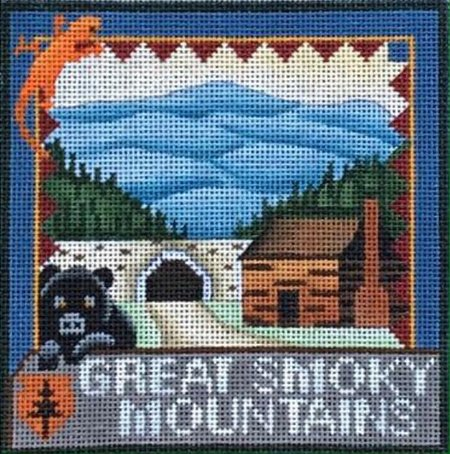 Great Smokey Mountains needlepoint by Denise De Rusha - Canvas Only