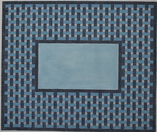Blue Woven needlepoint - Canvas Only