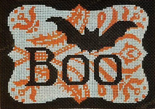 Boo Halloween Needlepoint  - Canvas Only
