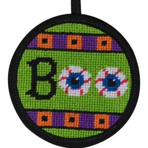 Halloween Needlepoint Ornament Kit Boo