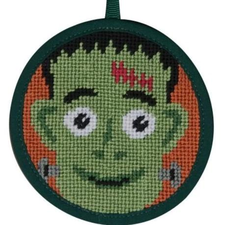 Halloween Needlepoint Ornament Kit Frankenstein