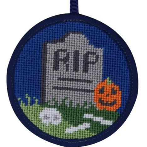Halloween Needlepoint Ornament Kit R.I.P.