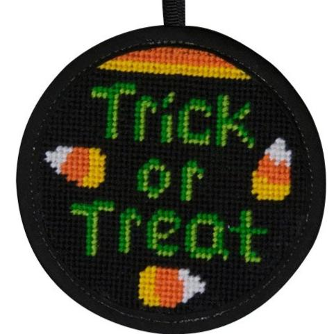 Halloween Needlepoint Ornament Kit Trick Or Treat
