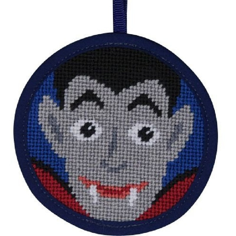 Halloween needlepoint kit Dracula Stitch Up and Stitch & Zip