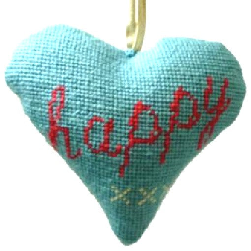 Needlepoint Ornament Kit Heart Happy