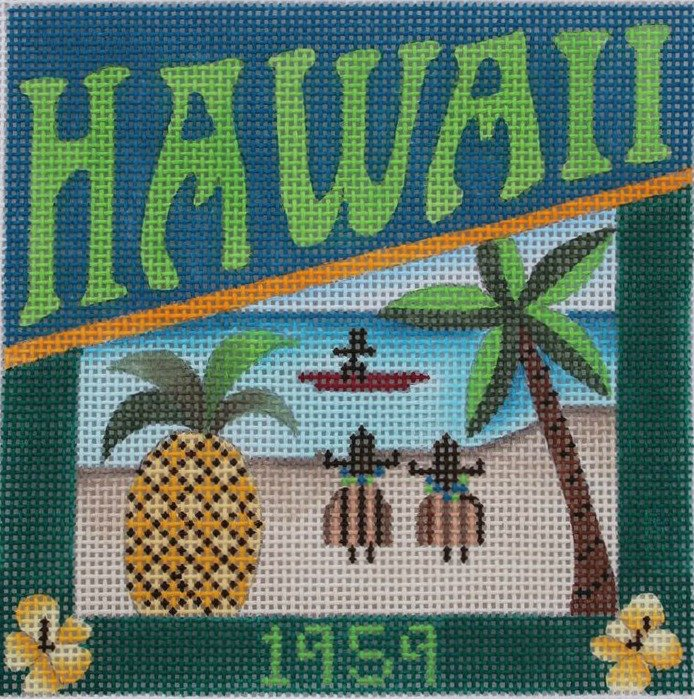 Hawaii Needlepoint - Canvas Only
