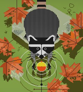 Charley Harper Needlepoint - Bobber Robber - Canvas Only