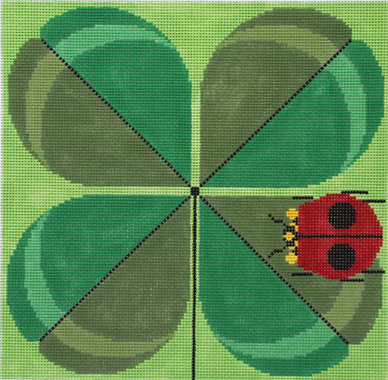 Charley Harper Needlepoint Double Lucky - Canvas Only