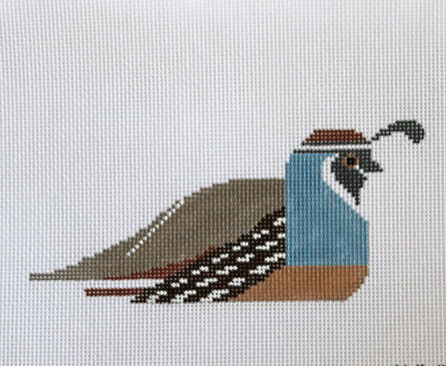 Charley Harper needlepoint California Quail - NEW - Canvas Only