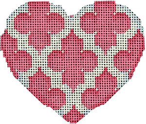 Quadrefoil Heart - pink - Canvas Only