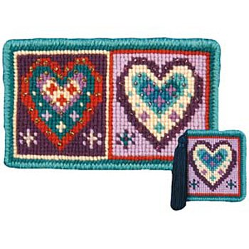 Hearts Needlepoint Kit