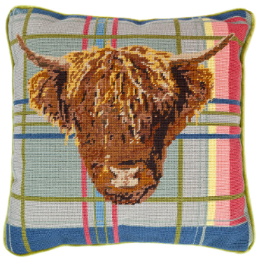 Highland Cow Needlepoint Kit