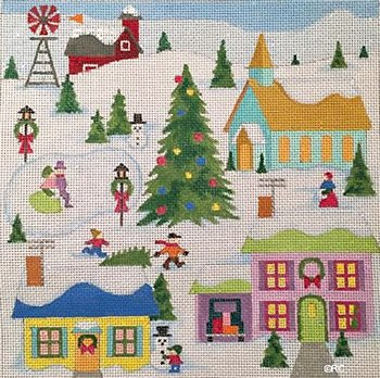 Christmas Village by Raymond Crawford- in stock - Canvas Only