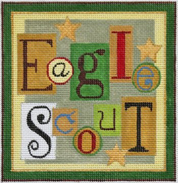Eagle Scout needlepoint - Canvas Only