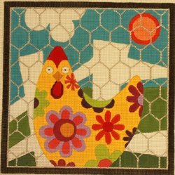 Chicken Pen by Raymond Crawford - Canvas Only