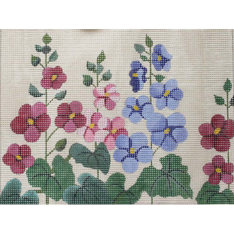 Hollyhock Garden Easy Stitch Needlepoint