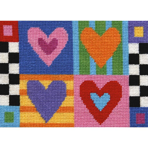 Easy Needlepoint Kit Hugs and Kisses