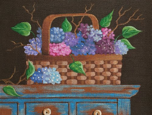 Hydrangea basket - Canvas Only