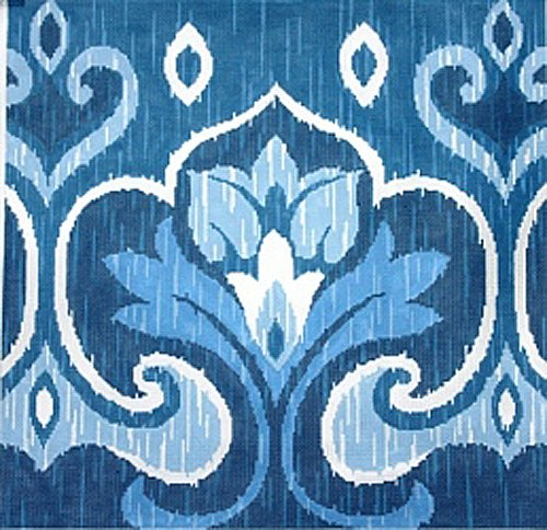 ikat needlepoint canvas by Sally Corey