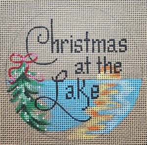 Christmas at the Lake - Canvas Only