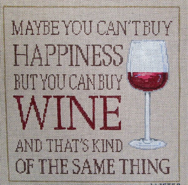 Sandra Gilmore Needlepoint Buy Wine - Canvas Only