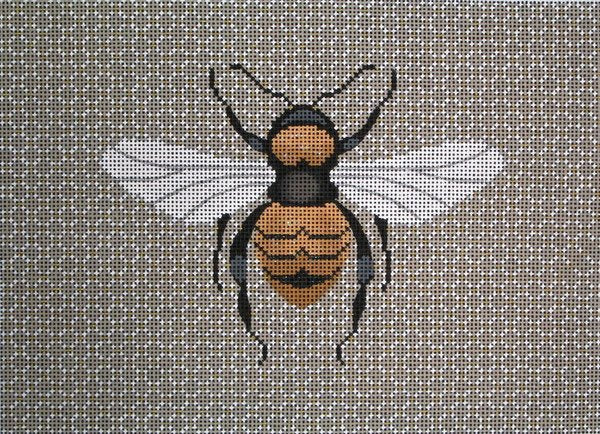 JP Needlepoint<BR>Bee - Canvas Only