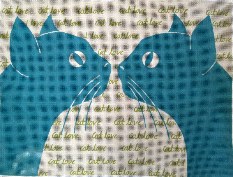 Cat Love Needlepoint - Canvas Only