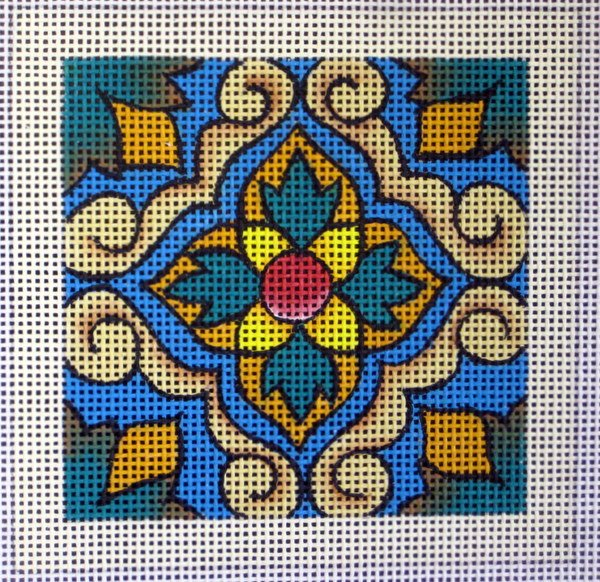 Lisbon Tile Needlepoint - Canvas Only