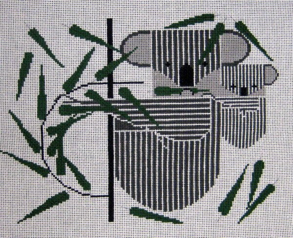 Charley Harper Needlepoint KOALAkoala - Canvas Only