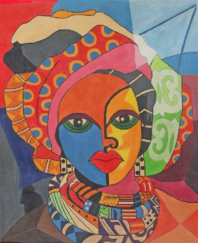 African Beauty by P Duncan-Williams  - canvas only
