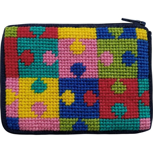 Beginner Needlepoint Kit Coin Purse Jigsaw