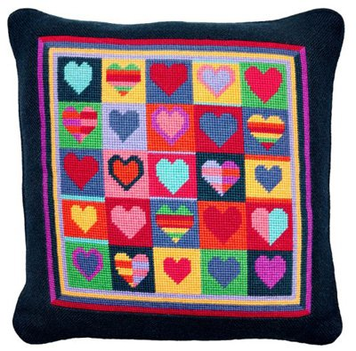 Jolly Hearts Needlepoint KIt
