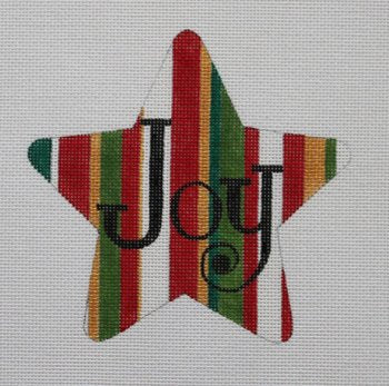 JOY Star Christmas Ornament - Canvas Only