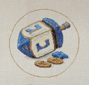 Judaic Needlepoint<BR>Game - Canvas Only