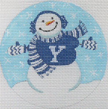 Collegiate Ornament - Snowman - Canvas Only