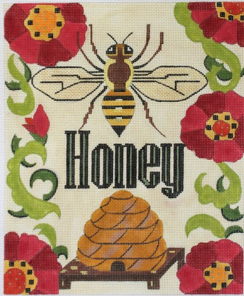 Honey needlepoint canvas by Melissa Prince