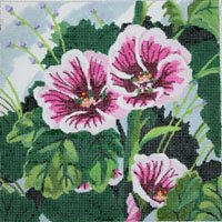 Hollyhock - Canvas Only