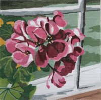 Geraniums - Canvas Only