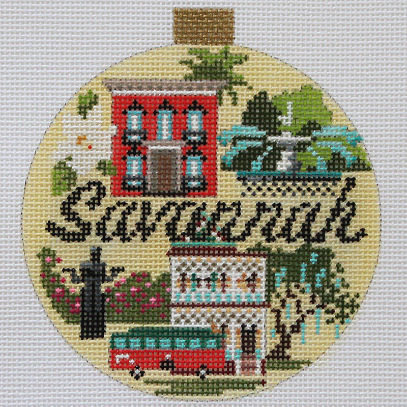 Savannah Needlepoint Travel Round