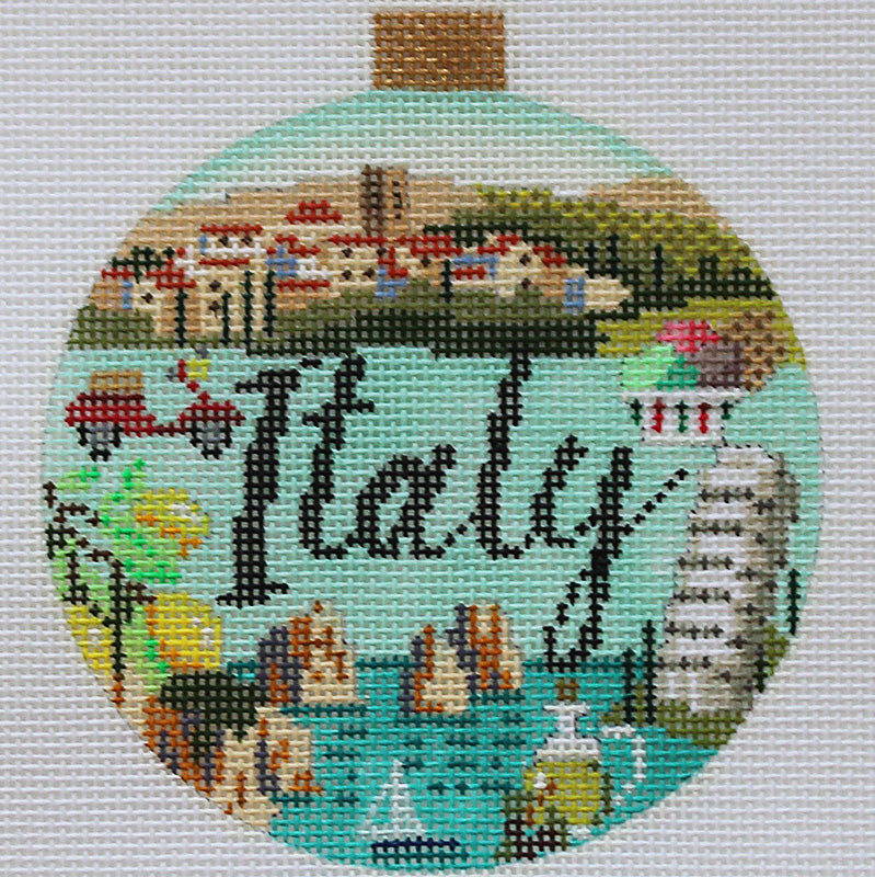 Italy Needlepoint Travel Round