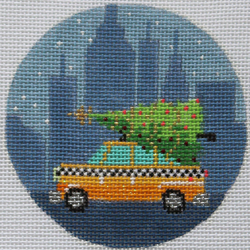 Kirk & Bradley Needlepoint New York City taxi