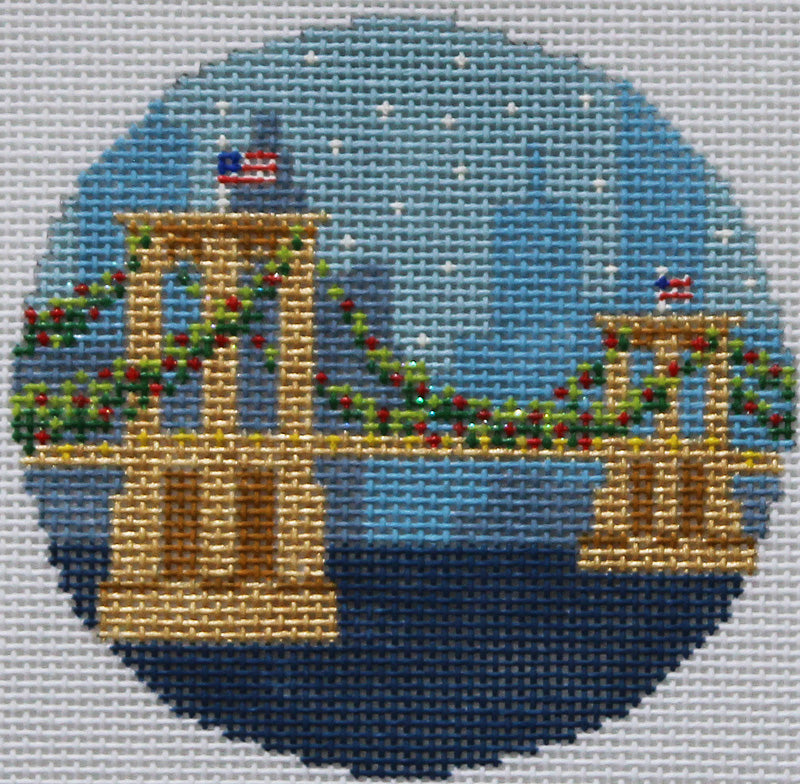 Kirk & Bradley Needlepoint Brooklyn Bridge