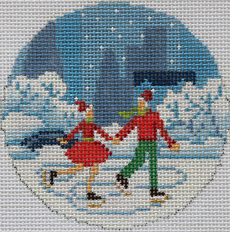Kirk & Bradley Needlepoint Central Park Ice Skaters