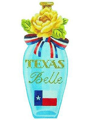 Kirk & Bradley Needlepoint<BR>Texas Belle Perfume - Canvas Only