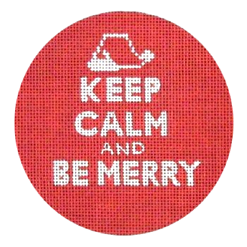Keep Calm and Be Merry needlepoint