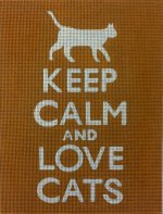 Keep Calm & Love Cats (Orange) - Canvas Only