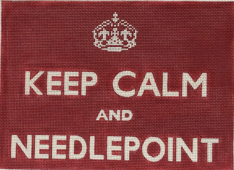Keep Calm and Needlepoint (Red)