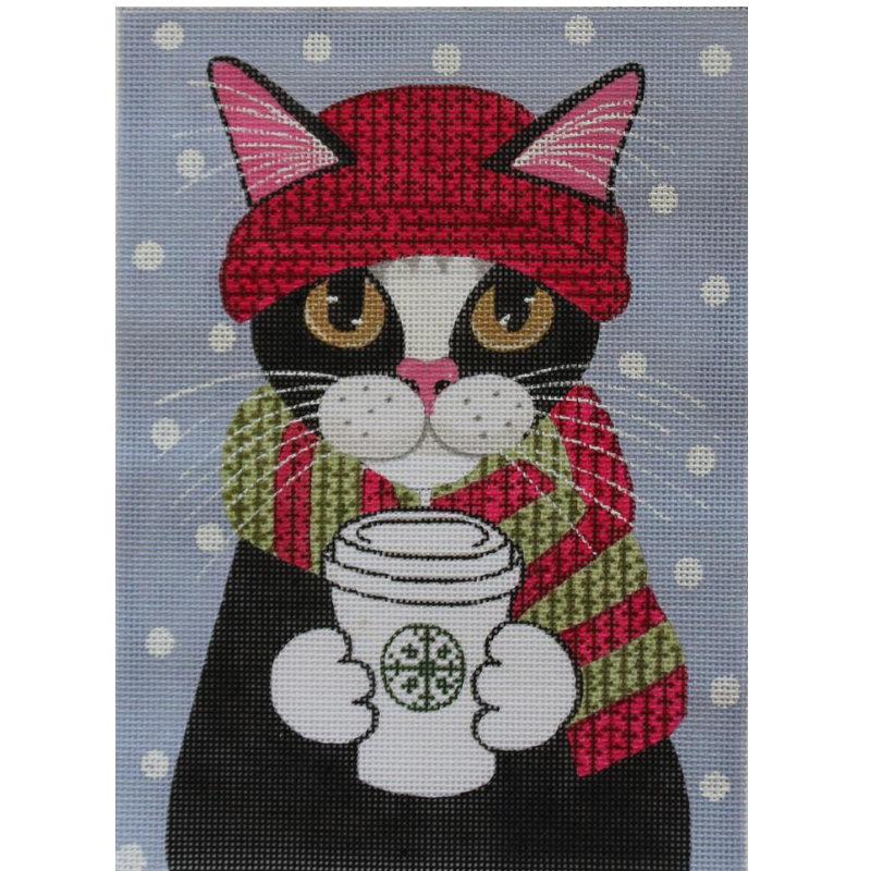 Keeping Warm needlepoint canvas by Ryan Conners