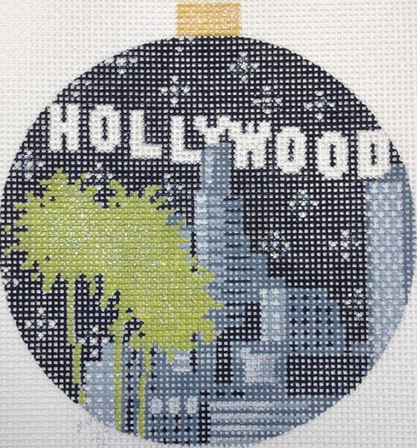 Kirk & Bradley Needlepoint Hollywood Bauble - Canvas Only