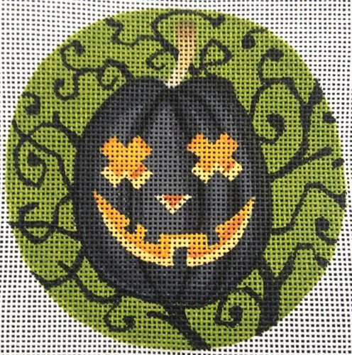 Halloween Needlepoint Ornament Buddy O'Lantern - Canvas Only